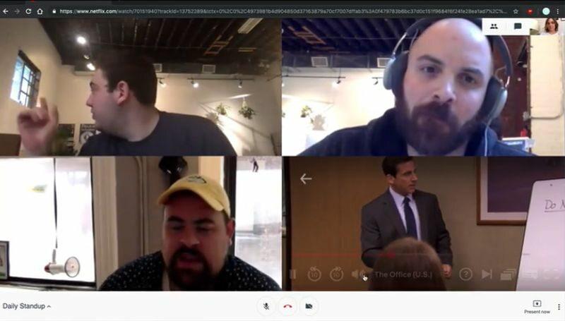 Przykładowy obraz z Netflix Hangouts