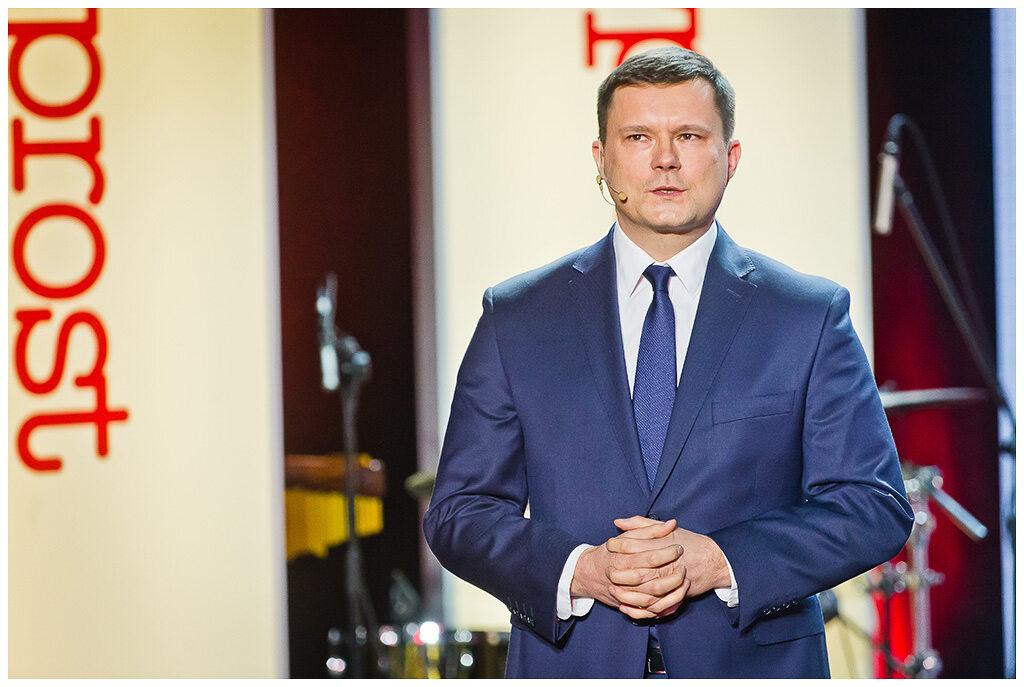 Jacek Pochłopień podczas gali wręczenia Nagród Kisiela 2016
