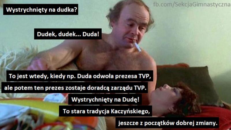 Mem po odwołaniu Jacka Kurskiego ze stanowiska prezesa TVP
