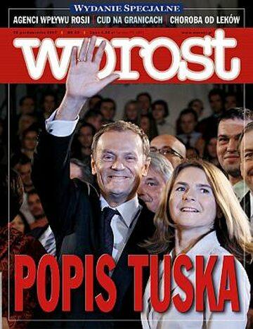 Okładka tygodnika Wprost nr 43/2007 (1296)